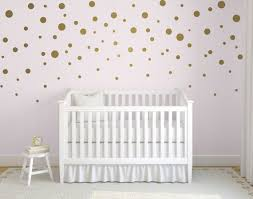 Gold Confetti Polka Dot Wall Decals Mixed Size Polka Dot Etsy
