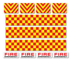 Fire Engine Decals Road Mountain Bike Bicycle Toy Car Stripes Frame Stickers Ebay