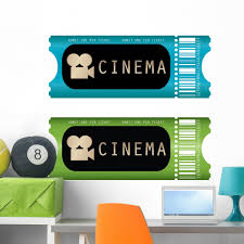 Movie Ticket Wall Decal By Wallmonkeys Peel And Stick Graphic 36 In H X 36 In W Wm334101 Walmart Com