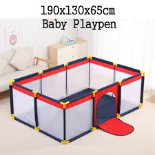 190x130x65cm L 130x130x65cm M 4 Panel Fence Baby Playpen Fence Play Yard For Children Infants Folding Safety Barrier Game Tent Indoor Outdoor Wish