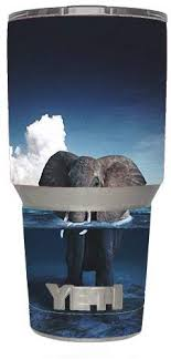 Amazon Com Skin Decal Vinyl Wrap 6 Piece Kit For Yeti 30 Oz Rambler Tumbler Cup Elephant Under Water