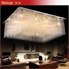 crystal hall large ceiling lamp led
