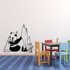 Panda Bears Vinyl Wall Decal Vinyl Decor Wall Decal Customvinyldecor Com