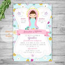 Invitaciones Para Bautizo Nina Spanish Baptism Printables Cloudy