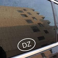 Yjzt 13 5cm 9 1cm Dz Algeria Country Code Oval Vinyl Decal Car Sticker Black Silver C10 01414 Car Stickers Aliexpress