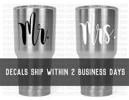 Mr And Mrs Vinyl Decal Decal For Yeti Rtic Ozark Trails Etsy