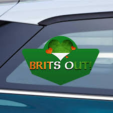 Amazon Com Makoroni Brits Out Ireland Irish Car Magnet Magnetic Bumper Sticker 4x6 Or 6x9 Inc Automotive