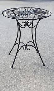 french design garden coffee black table