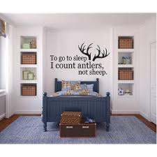 Bestpriceddecals To Go To Sleep I Count Antlers Not Sheep 1 Wall Decal 13 X 25 Buy Products Online With Ubuy Bahrain In Affordable Prices B00e700fk4
