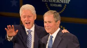 George W. Bush, 'brother with a different mother' Bill Clinton ...