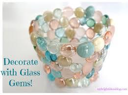 glass gems and hot glue