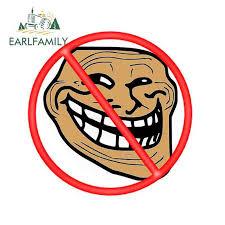 Earlfamily 13cm X 13cm For Troll Trollbusters Emma Watson Meme Face Car Bumper Window Stickers Fashion Occlusion Scratch Decal Car Stickers Aliexpress