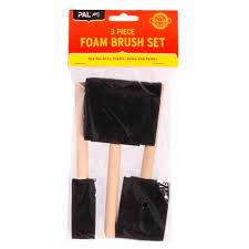 Pal Foam Brush Set Pads Speed Brushes Mitre 10