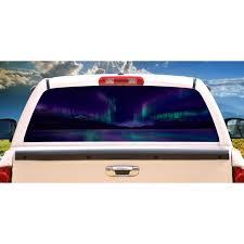 Aurora Rear Window Graphic Back Truck Decal Suv View Thru Vinyl Car Walmart Com Walmart Com