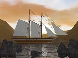 free 3d wallpaper schooner 1024x768