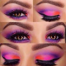 eye makeup for purple clothes