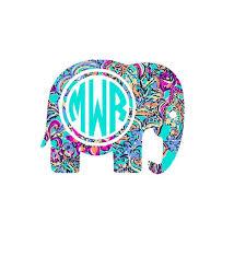 Elephant Monogram Elephant Decal Boho Decal Boho Sticker Boho Monogram Lily Monogram Lily Prints Elephant Decal Monogram Decal Monogram Stickers