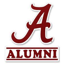 Script A Alumni Decal University Of Alabama Supply Store