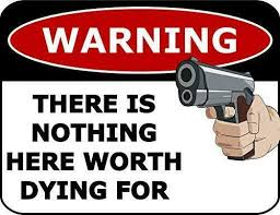 Security System Vinyl Sign Nothing Inside Worth Dying For Decal For Sale Online Ebay