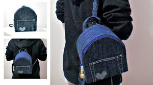 diy no sew backpack from old jeans
