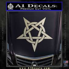 Wicca Pentacle Decal Sticker Pentagram A1 Decals