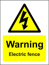 Warning Electric Fence Sign 1 2mm Rigid Plastic 200mm X 150mm Amazon Co Uk Office Products