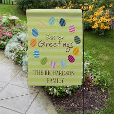 personalized easter egg garden flags
