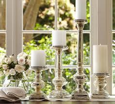antique mercury glass pillar holder