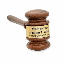 the judge personalized wooden gavel