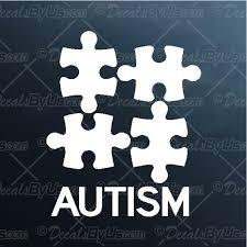 Autism Puzzle Pieces Decal Autism Puzzle Pieces Car Sticker Great Prices
