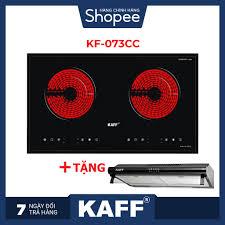 Mã ELMALLNOV hoàn 5% xu đơn 3TR] Bếp hồng ngoại đôi cảm ứng Kaff KF-073CC +  Tặng Máy hút mùi nhà bếp cổ điển 7 tấc Kaff