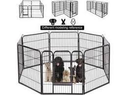Bestpet Dog Pen Dog Playpen Extra Large Indoor Outdoor Dog Fence Heavy Duty 8 Panels 32 Inches Exercise Pen Dog Crate Cage Kennel Newegg Com