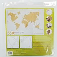 Wall Pops Wpe1941 Cork Map Pinboard Tan For Sale Online Ebay