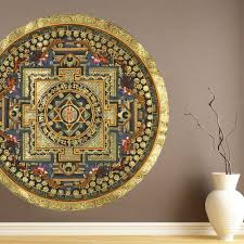 Shop Full Color India Mandala Full Color Wall Decal Sticker Sticker Decal Size 44x44 On Sale Overstock 14812138