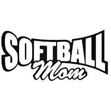 Softball Mom Softball Die Cut Decal Sticker