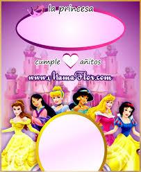 Tarjeta De Cumpleanos De Las Princesas Disney Listo Para Imprimir