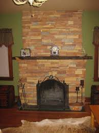 dry stack cultured stone fireplace ac
