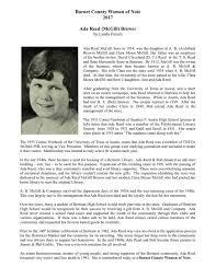 Ada Reed (McGill) Brewer - Burnet Co Hist Comm