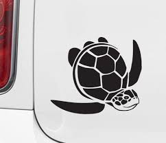 The Decal Store Com By Yadda Yadda Design Co Car Sea Turtle Honu Car Vinyl Decal Sticker C Yydco 5 W X 4 2