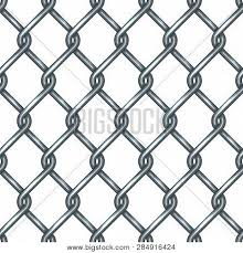 Chain Link Fence Vector Photo Free Trial Bigstock
