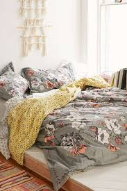 grey background bedding set white and