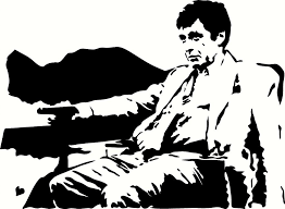Tony Montana Talking To Frank Vinyl Decal Graphic Choose Your Color And Size Screen Printing Designs Cat Costumes Art