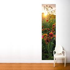Adzif 24 In X 96 In Multi Color Flower At Sunrise Fresk Wall Decal Fr089 A The Home Depot