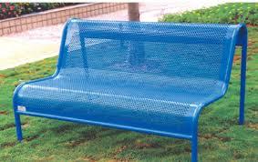 bench brackets blue cast iron