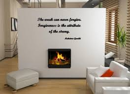 Jc Design The Weak Can Never Forgive Forgiveness Is The Attribute Of The Strong Wall Sticker Quote Wall Stickers Store Uk Shop With Wall Stickers Wall Decals Product Decal