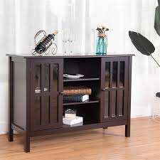 solid mdf wood tv stand console cabinet