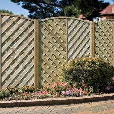 Grange St Lunair Arched V Shape Grooved Slat Fence Panel W 1 8 M H 1 8m Pack Of 4 Timber Fence Panels Fence Panels Slatted Fence Panels