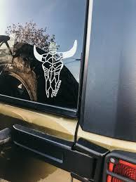 Steer Skull Large Vinyl Car Decal Heirloom Apparel Design