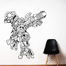Transformers Wall Decal Prime Wall Sticker Bumblebee Wall Decal Kids Wall Sticker Bedroom Wall Sti Wall Stickers Bedroom Kids Wall Decals Nursery Wall Stickers