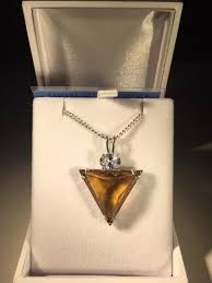 triangle citrine crystal pendant